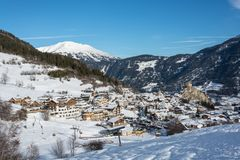 Free View On The Small Village Ladis In Ski Resort Serfaus Fiss Ladis Stock Photography - 107530232