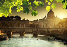 Free View On Tiber And St Peter Basilica Stock Image - 45767831