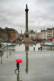View On Trafalgar Square From National Gallery Royalty Free Stock Photos