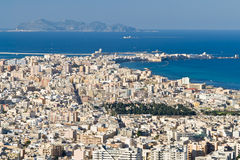 View On Trapani And Egadi Islands From Erice Stock Image