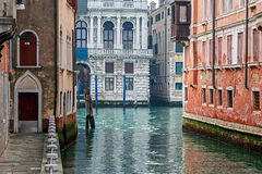 View at one Canal in Venice, Italy Stock Image