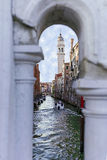 View at one Canal in Venice, Italy Royalty Free Stock Photography