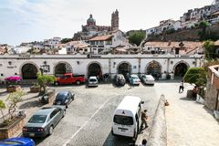 View of one of the central streets in Taxco De Alarcon, Mexico Royalty Free Stock Photography
