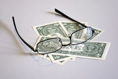View on one-dollar pyramid through glasses royalty free stock photography