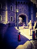 A view of one of the entrances to Windsor Castle. Royalty Free Stock Photos