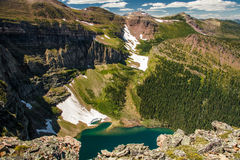 View one of glacial lakes on the Akamina ridge trail, Waterton NP, Canada. View one of the glacial lakes on the Akamina ridge trail in Waterton Lakes NP, Canada stock images