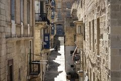 View of one of historical streets in Valletta. / Malta Stock Photography