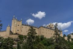 Monuments of the city of Segovia, the Real Alcazar, Spain stock photography