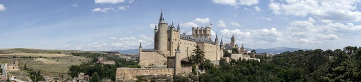 Monuments of the city of Segovia, the Real Alcazar, Spain. View of one of the main monuments of the city of Segovia, the alcazar royalty free stock photography