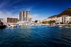 View of one of the Marina's in Gibraltar Royalty Free Stock Photography