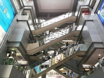 A view of one of MBK biggest shopping mall of Bangkok Thailand royalty free stock photos