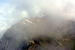 View on one of Monte Baldo in clouds Royalty Free Stock Photos