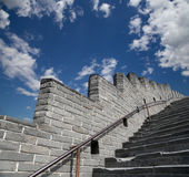 View of one of the most scenic sections of the Great Wall of China, north of Beijing Stock Images