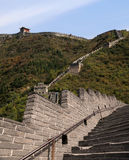 View of one of the most scenic sections of the Great Wall of China, north of Beijing Stock Photos