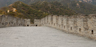 View of one of the most scenic sections of the Great Wall of China, north of Beijing Royalty Free Stock Image