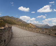 View of one of the most scenic sections of the Great Wall of China, north of Beijing Stock Image