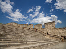 View of one of the most scenic sections of the Great Wall of China, north of Beijing Royalty Free Stock Photo
