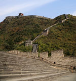 View of one of the most scenic sections of the Great Wall of China, north of Beijing Stock Photography