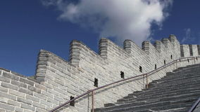 View of one of the most scenic sections of the Great Wall of China, north of Beijing stock footage