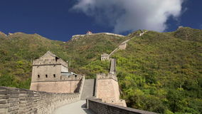 View of one of the most scenic sections of the Great Wall of China, north of Beijing stock video footage