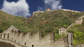 View of one of the most scenic sections of the Great Wall of China, north of Beijing stock video