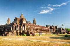 View from one of outside corners of ancient temple Angkor Wat Royalty Free Stock Photos