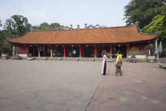 A view of one of the Pagoda, Temple of Literature Van Meu. Hanoi Vietnam Royalty Free Stock Image
