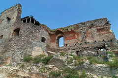 View of one part at the citadel ruins of Deva Royalty Free Stock Photo