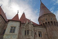 View of one part from Corvin castle Stock Photos