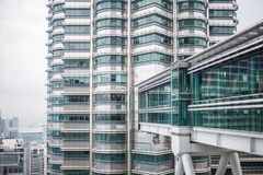 View on one Petronas Twin Tower from inside other tower Kuala Lumpur. Malaysia Royalty Free Stock Images