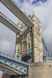View of one of the towers of the London Bridge, England Royalty Free Stock Photo
