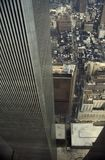 View from one of the Twin Towers of the World Trade Centre,. Destroyed by a terrorist attack on September 2001. New York, USA stock photography