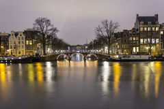 View of one of the Unesco world heritage famous city canals Royalty Free Stock Photos