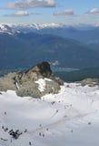 View of one of Whistler's Ski slopes. Stock Photo
