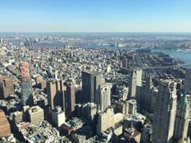 View from One World Trade Center, Manhattan stock images