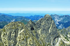 View onTatra western and red peaks of Poland Royalty Free Stock Photos