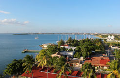View onto Cienfuegos city Royalty Free Stock Photography