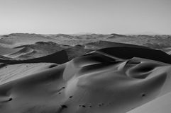 View onto Desert Landscape with Smooth Dunes, Big Daddy, Namibia Stock Photography