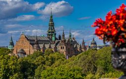 View onto the Nordic Museum or Nordiska museet on Djurgarden isl. View onto the intricate architecture of the Nordic Museum or Nordiska museet, located on Royalty Free Stock Photo