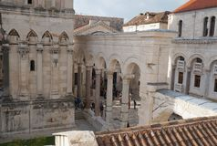 View onto Prothyron and Peristyle at the Diocletian Palace Royalty Free Stock Photography