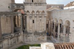 View onto Prothyron and Peristyle at the Diocletian Palace Stock Photos