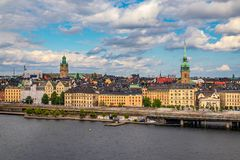 View onto Stockholm old town Gamla Stan in Sweden Royalty Free Stock Photography