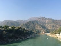 View of Ganga River in Rishikesh Royalty Free Stock Images