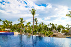 View from the open bar in Barcelo hotel, Punta Cana, 02.05.17 Royalty Free Stock Image