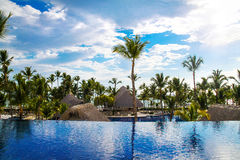View from the open bar in Barcelo hotel, Punta Cana, 02.05.17 Royalty Free Stock Images