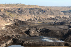 View in a open Coal mine Royalty Free Stock Images