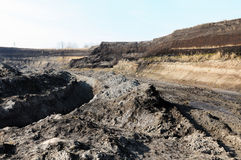 View in a open Coal mine Stock Photos