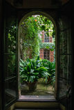 View from open window. Royalty Free Stock Photography