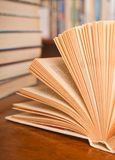 View of opened book Stock Images