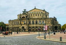 View on Opera House in Dresden, Germany Stock Photo